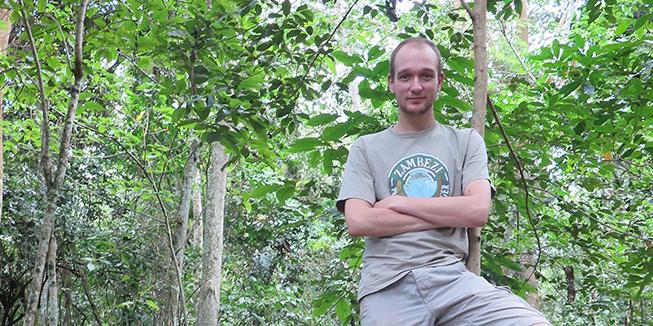 Onno Giller, onderzoeker in Oeganda.