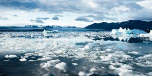 Foto van zee-ijs.