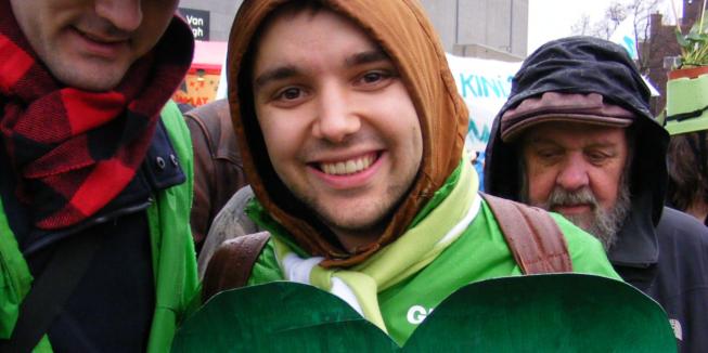 Lyle bij de Amsterdamse Klimaatparade