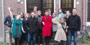 Foto tijdens DWARS-dag in Groningen.