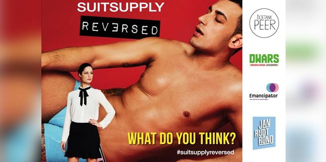 De poster van SuitSupply Reversed.