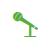 Icoontje van een microfoon.