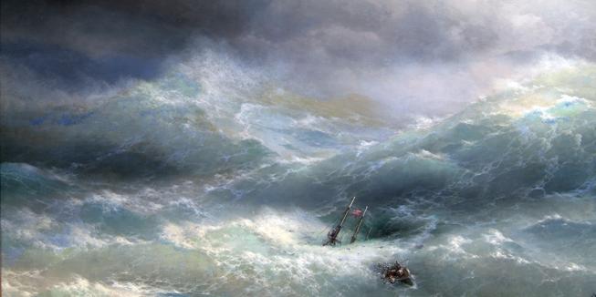 Het schilderij 'Wave' van Ivan Aivazovsky (1889).