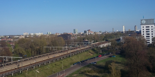 Het uitzicht vanaf de congreslocatie 2015 in Eindhoven