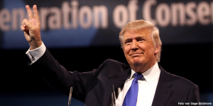 Donald Trump als spreker op de Conservative Political Action Conference 2013 in National Harbor, Maryland.