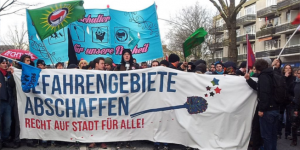 St. Pauli wcborstel als symbool tegen gentrificatie