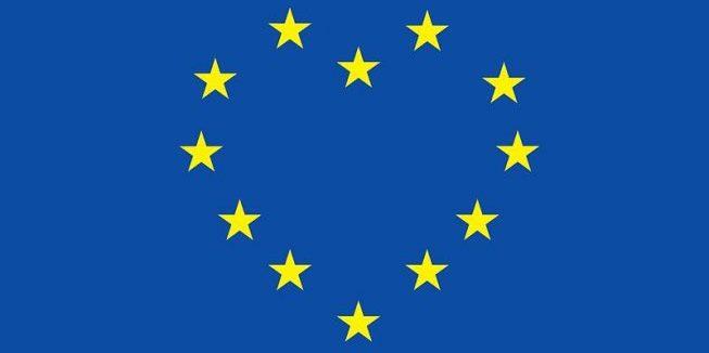 EU vlag hart