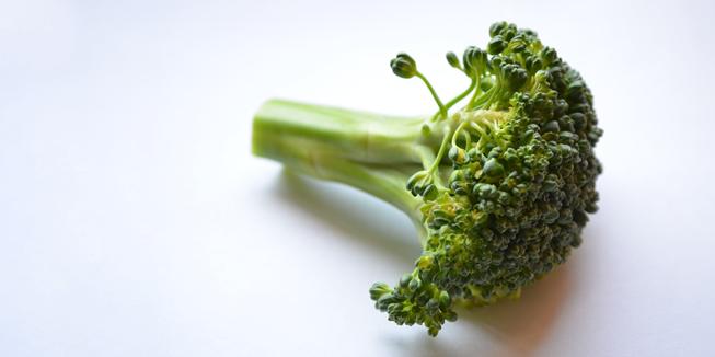 Een stronkje broccoli.