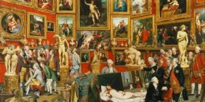 The Tribuna of the Uffizi door Johan Zoffany