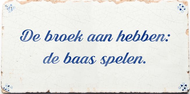 De broek aan hebben: een voorbeeld van stereotypen in de taal.