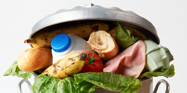 Afvalbak voedselverspilling, USDA